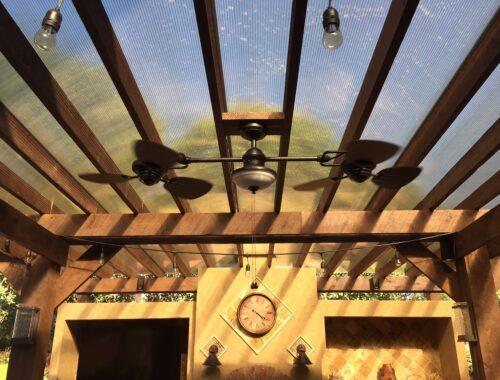 Eine Outdoor Küche